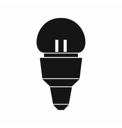 Reflector bulb icon simple style vector