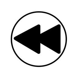 rewind linear simple graphic web icon vector image