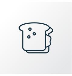 sandwich icon line symbol premium quality vector image