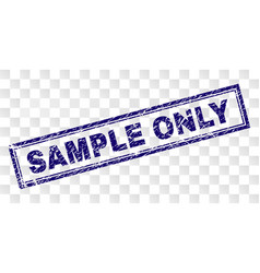Scratched sample only rectangle stamp vector