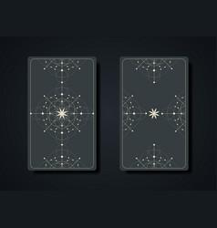 Set magical tarot cards occult sacred geometry vector