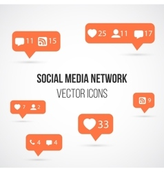 Set social media network icons include vector