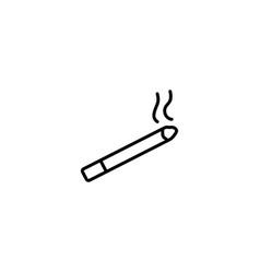 smoking cigarette icon vector image