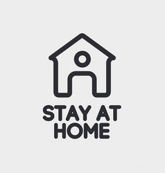 stay at home sign isolated on backgtound vector image