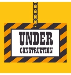 Under construction template icon vector
