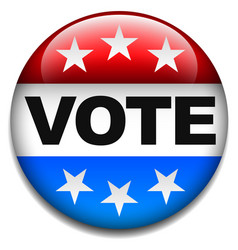 us vote badge vector image