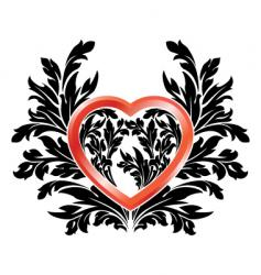 valentine black red vector image