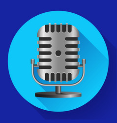 vintage metal studio microphone icon vector image