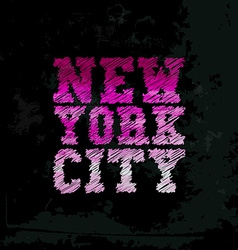 Vintage new york typography t-shirt graphics vector image