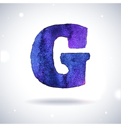 Watercolor letter G vector