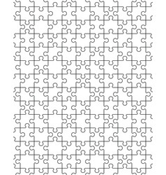 white puzzle seamless vector image