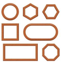 Wooden frames set vector