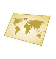 world map old vector image