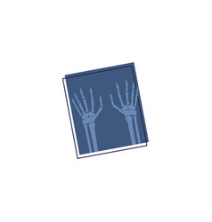 X-ray photograph icon vector