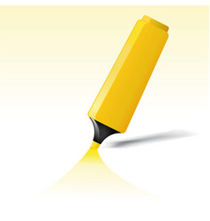 Yellow felt tip pen vector