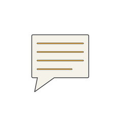 Comment solid icon speech bubbles vector