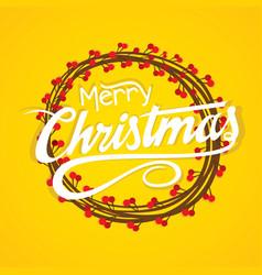 creative merry christmas card design vector image vector image