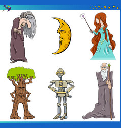 Fairy tale characters set vector