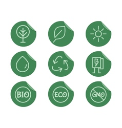 Green Ecology and environmental protection vector image vector image