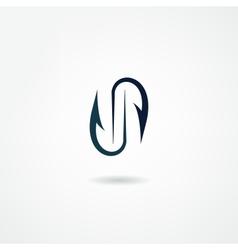 hook icon vector image vector image