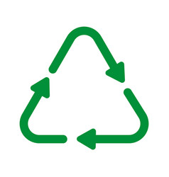 recycle sign icon vector image