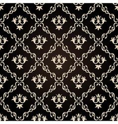 seamless vintage wallpaper background floral black vector image vector image