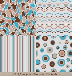 Trendy Colorful Seamless Patternscollection vector image vector image