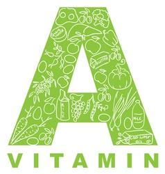 vitamin a vector image vector image