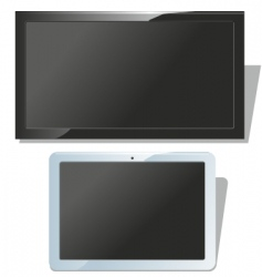 displays set vector image