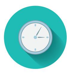 Flat design modern of analog clock icon vector image