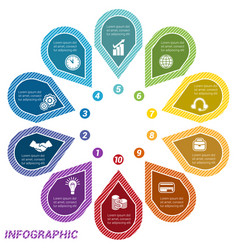 infographic points arranged in circle ten vector image vector image