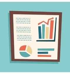 Presentation infographics retro vintage business vector