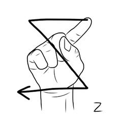 Sign language and the alphabetThe Letter z vector image vector image