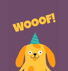 dog card vector image
