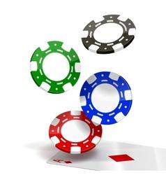 Falling poker chips vector