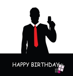 happy birthday with man vector image vector image