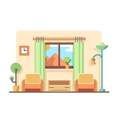 Living room concept vector image vector image