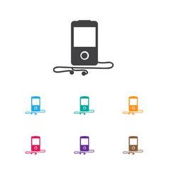 of gadget symbol on media vector image vector image