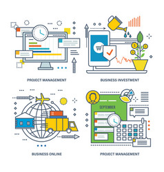 project management business investment business vector image vector image