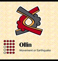 Aztec symbol Ollin vector image vector image