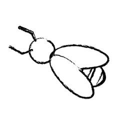 bee work cooperation image sketch vector image