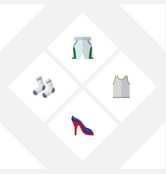 Flat icon clothes set of trunks cloth foot vector