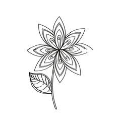 lilac flower decoration sketch vector image