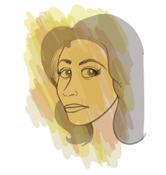 A young woman portrait in artistic style vector