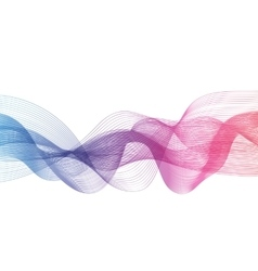Abstract Colored Wave on Background vector