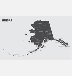 alaska counties map vector image