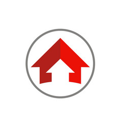 arrow up round logo vector image