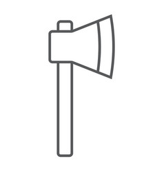 axe thin line icon tool and equipment vector image