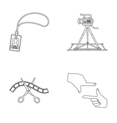 badge operator gesture and other accessories for vector image