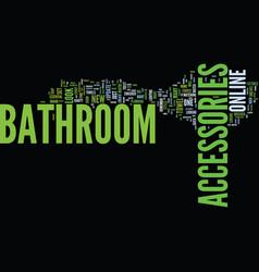 Bathroom accessories pink text background word vector